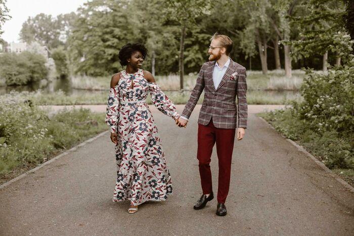Made A Non Conventional Wedding Dress! V9296