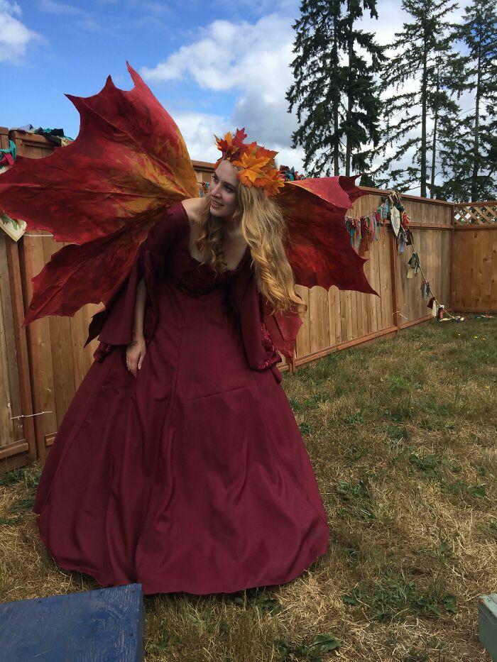I Made A Maple Leaf Fairy Costume For Renn Faire (B4571)