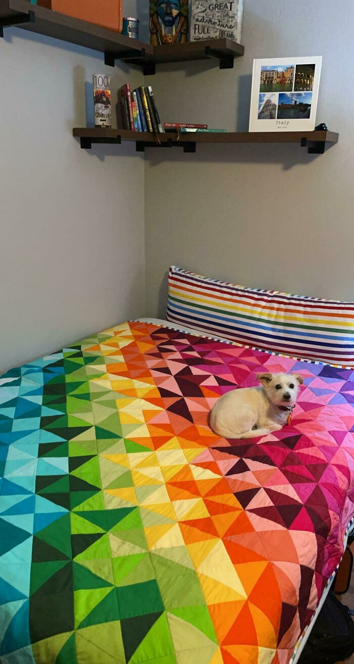 Finished My Rainbow Quilt! And A Body Pillow Case To Match. Happy Pride Month!