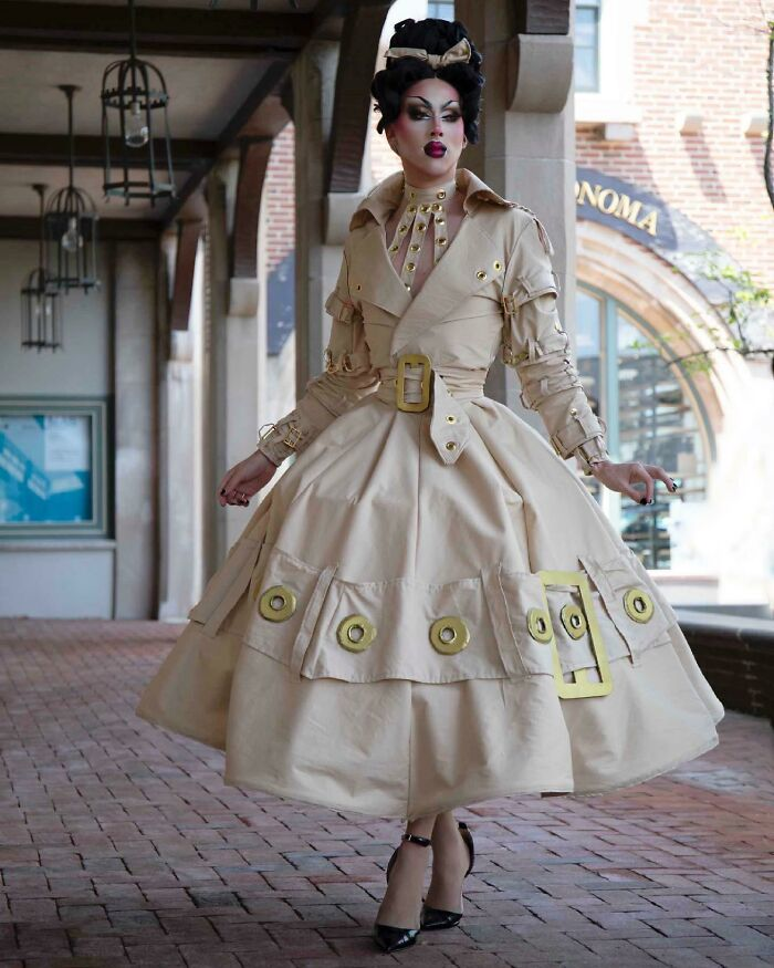 Designed, Sewed, And Modeled This Dior Inspired Trench Coat