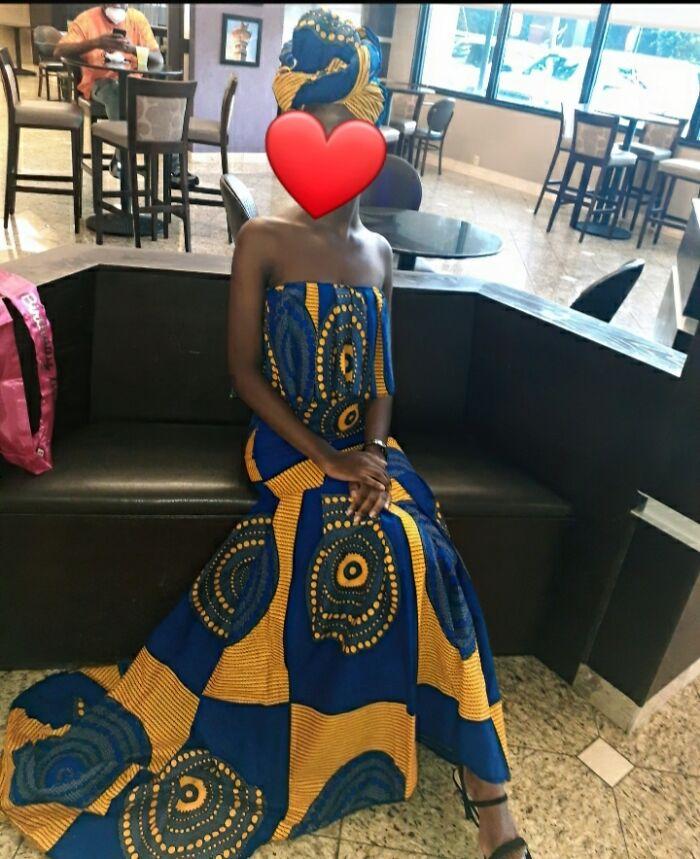 African Print Mermaid Style Dress