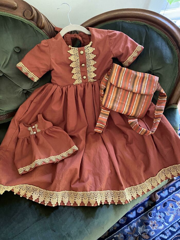 I Made An Adventure Ready Dress For My Niece. Machine Washable, No Scratchy Tulle, Fully Equipped With Pockets And Pack Pack For Maximum Storage Capacity, And Of Course A Matching Dress For A Side Kick [m7458]