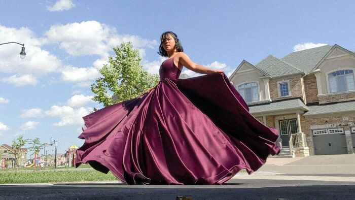 Prom Might Not Have Happened This Year But At Least I Can Still Twirl Around In The Ball Gown I Made!! Self-Drafted