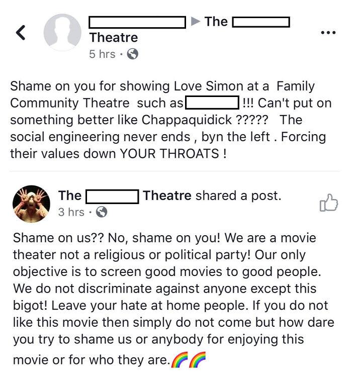 Movie Theater Shutting Down A Homophobe
