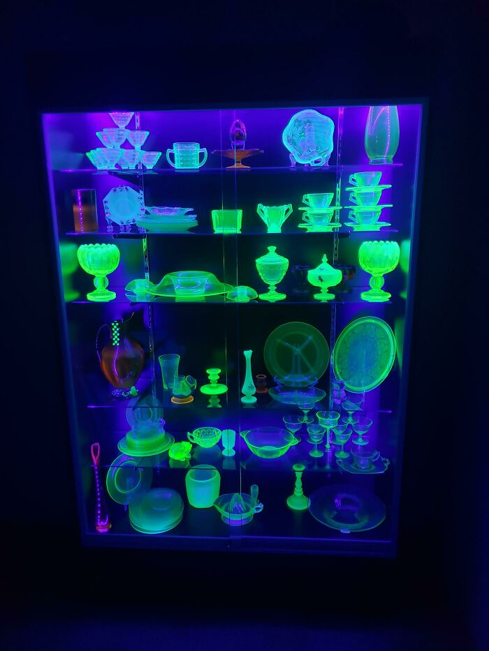 I Guess We're Posting Our Uranium Glass Collections? Here's Mine!