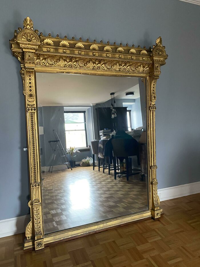1870's Victorian Mirror Meant To Sit Over A Mantel (It's Difficult To Tell From The Picture But It's About 6ft Y'all And 4.5ft Wide