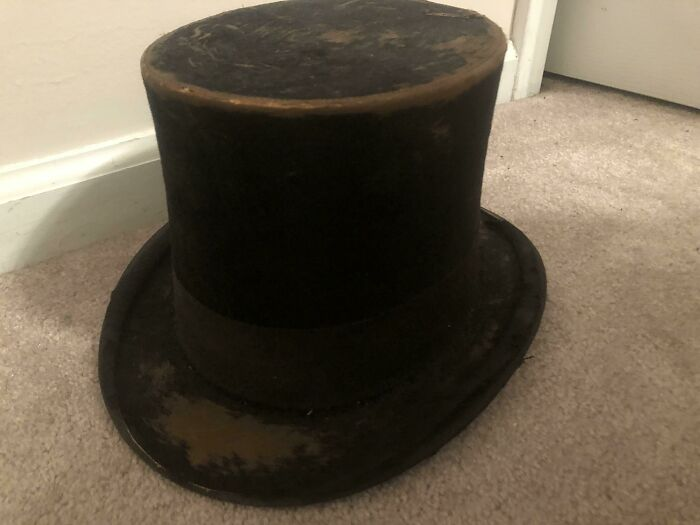 Top Hat That Belonged To My Great Great Great Grandfather (I Think) During The Late 19th Century From Ohio