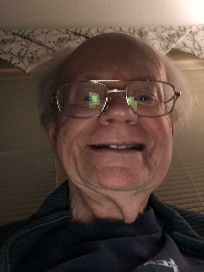 This Is A Selfie My Dad Sent Me