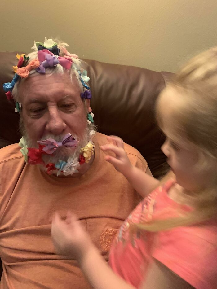 A 76 Yr Old Retired Air Force Colonel Is No Match For His 4 Year Old Granddaughter