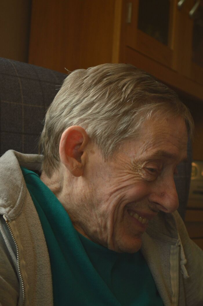 My Grandad Being All Giggly When He Was Chatting About His Childhood And All The Mischief He Got Up To Behind His Mothers Back!!!