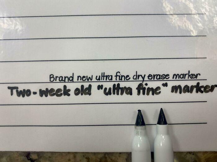 Compañeros de trabajo que hacen esto a mis marcadores de borrado en seco