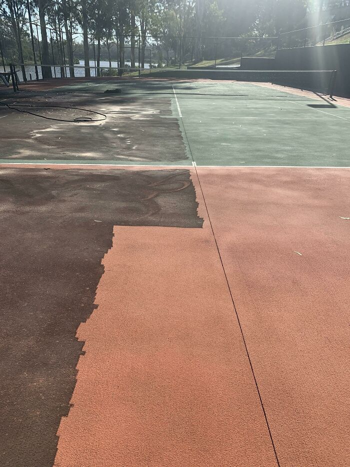 Finally Giving The Tennis Court Some Love