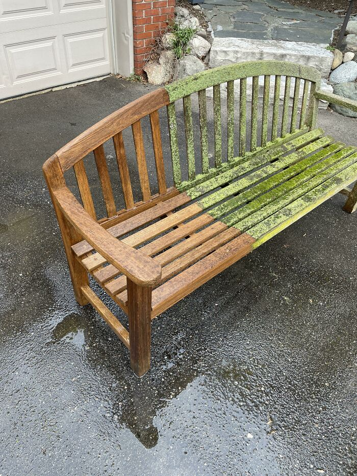 Power Washing, Sanding, And Oil This Weekend On 20-Year-Old Teak