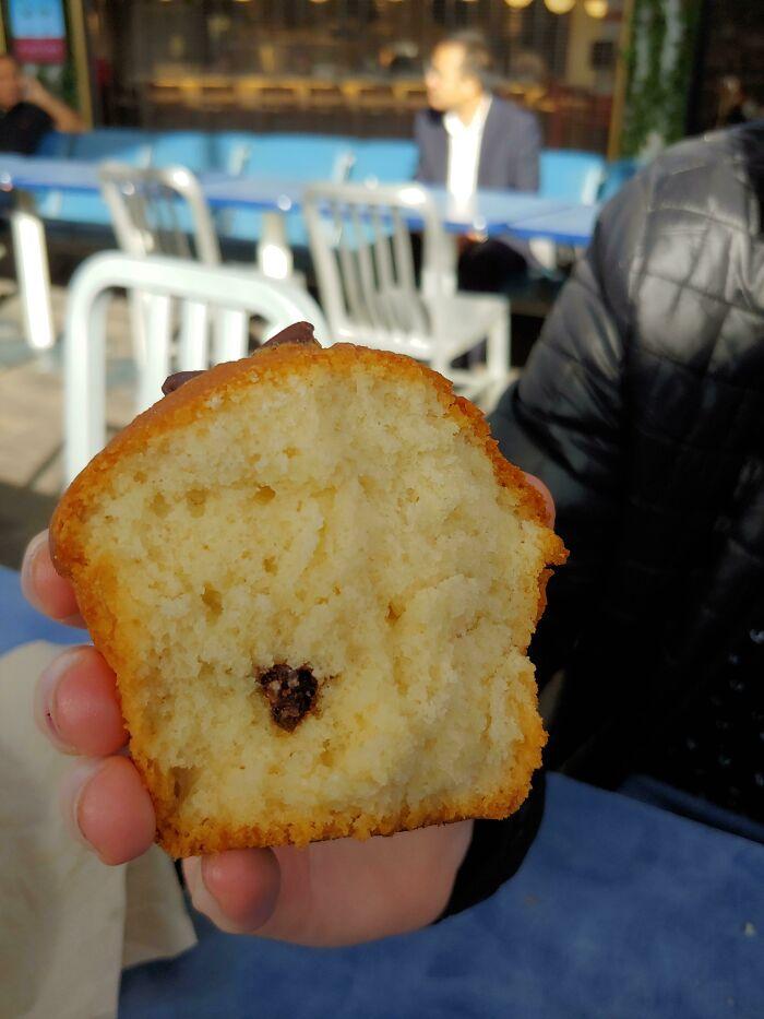 """Cuando dijeron """"Muffin con chispa de chocolate"""", no los tomé literalmente... Pero debería haberlo hecho"""