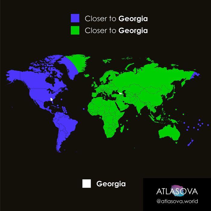 Are You Closer To Georgia, Or To Georgia?