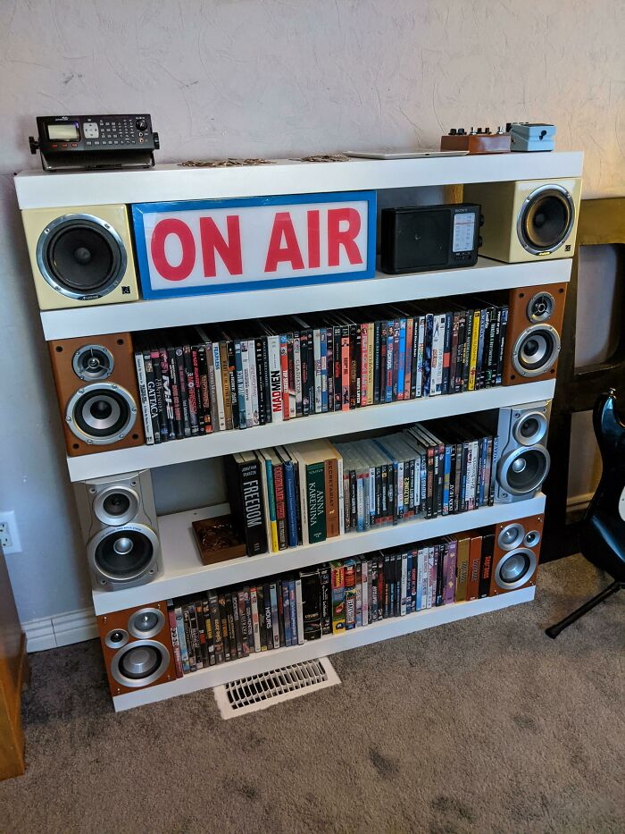 I Made Shelves Using Recycled Thrift Store Speakers