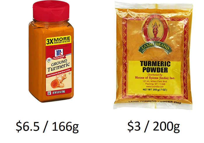 Check The International Foods Aisle For Spices. Price Difference Of Two Aisles Over At My Local Grocery
