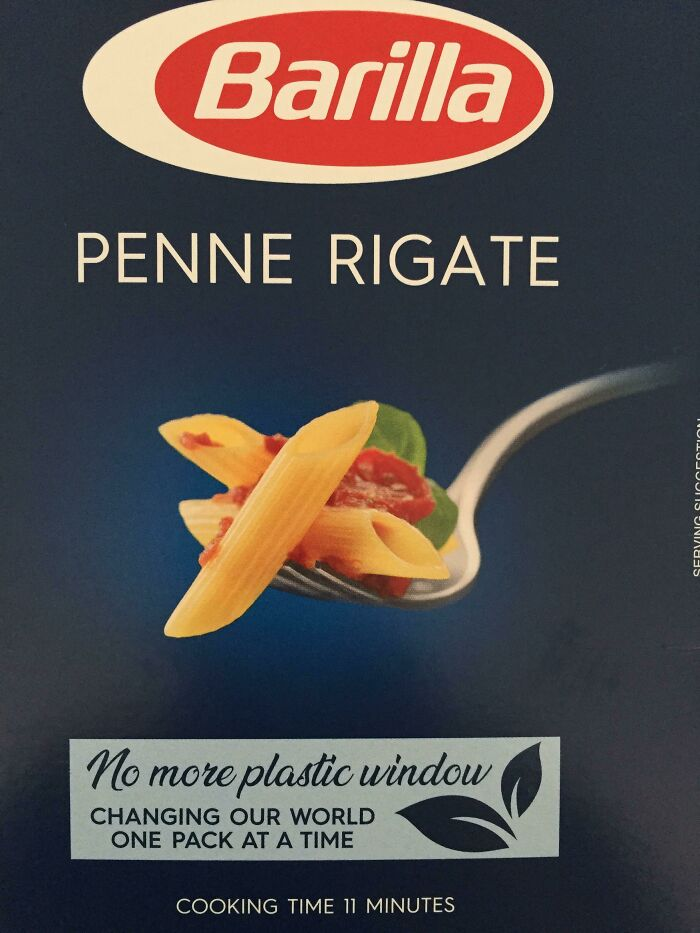 Italian Brand Barilla Removed The Plastic Window From Their Boxes (UK)
