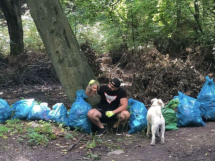 """Today I Collected 8 Bags Of Garbage From Nature... We Try To Justify Our Ignorance In Front Of Ourselves And We Will Say """"It's Not Mine"""", But We Are No Longer Entitled To That Nowadays. Nature Is Our Collective Responsibility, And This Sense Of Responsibility Motivates Me To Clean Up The Forest"""