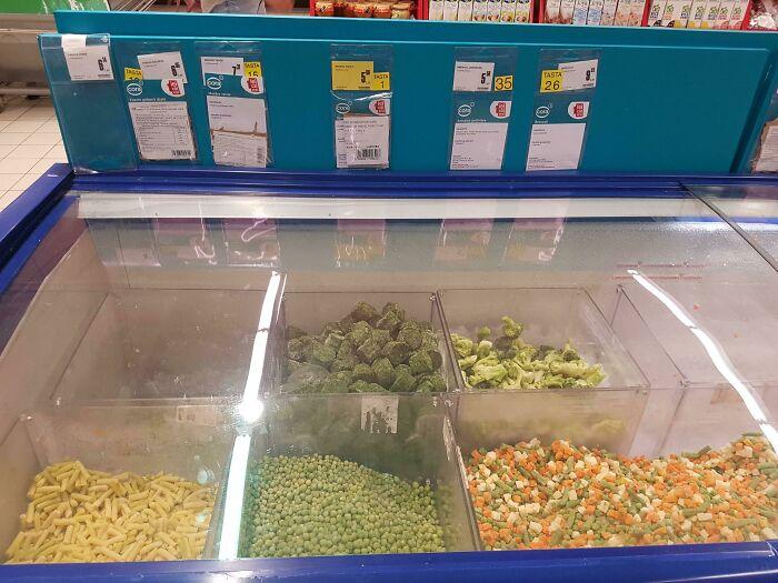 Bulk Frozen Vegetables In Romania! First Time I've Seen Somethibg Like This