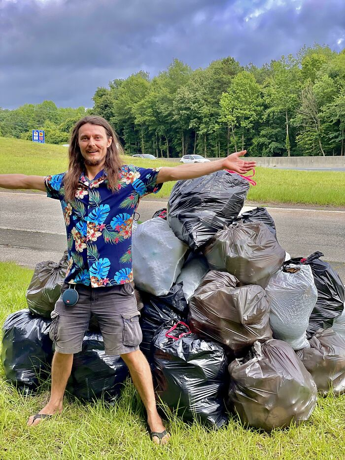 My Best Bud And I Cleaned Up A Ton Of Trash Today On Our Day Off