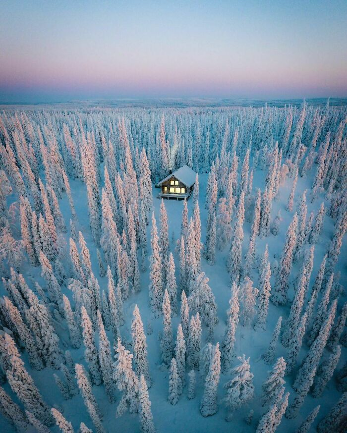 This Cozy Winter Cabin In Finland