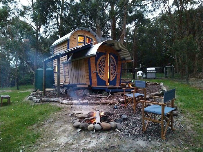 The Airbnb My Wife And I Are Spending The Weekend At, Victoria Australia. It's So Cute!