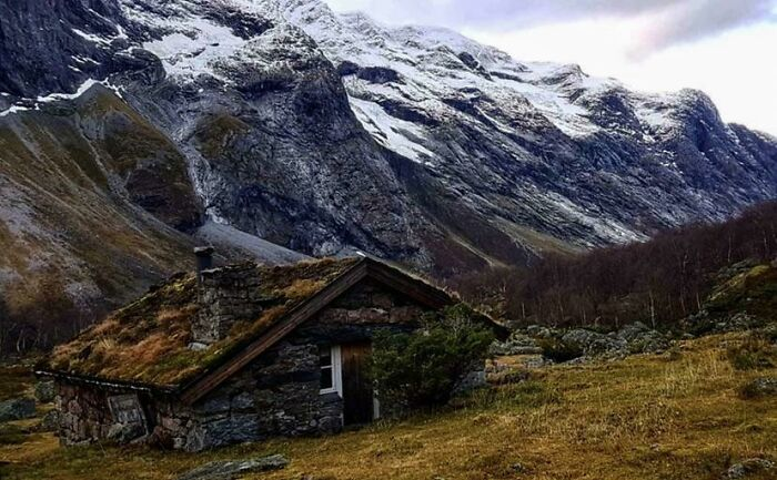 Restored Stone Cottage From Around 1800, Norway