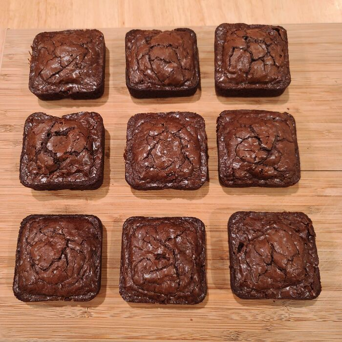 My Wife Made Brownies So Everyone Can Have An Edge Piece!