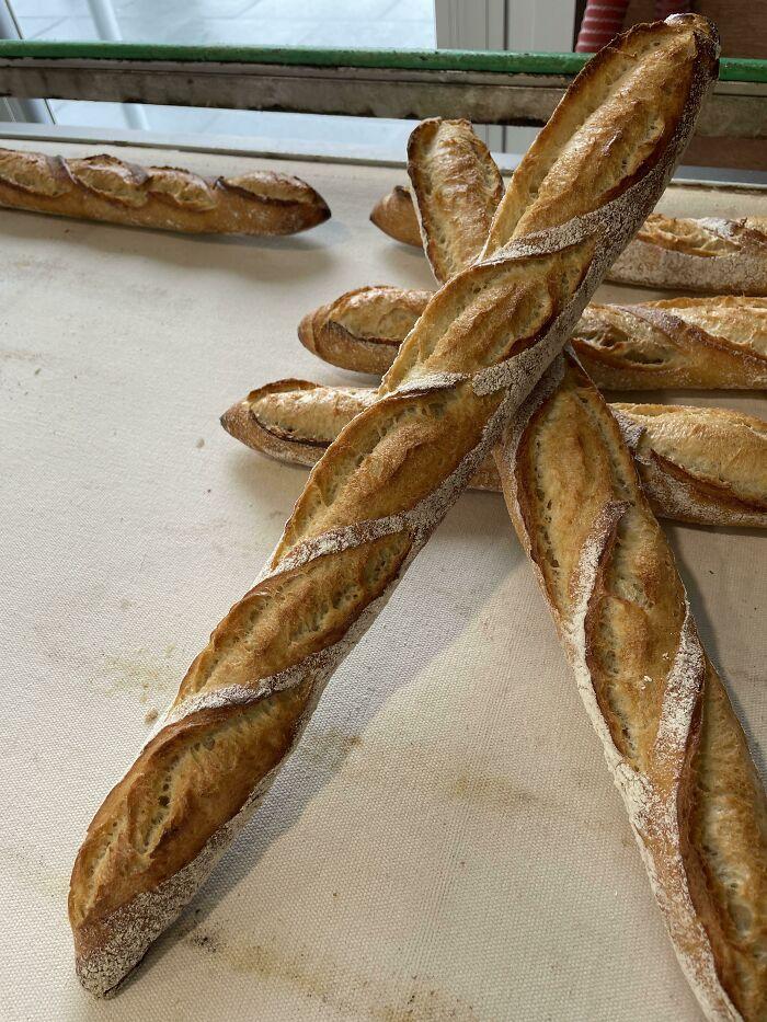 Baguette I Made Last Week (Pro French Baker)