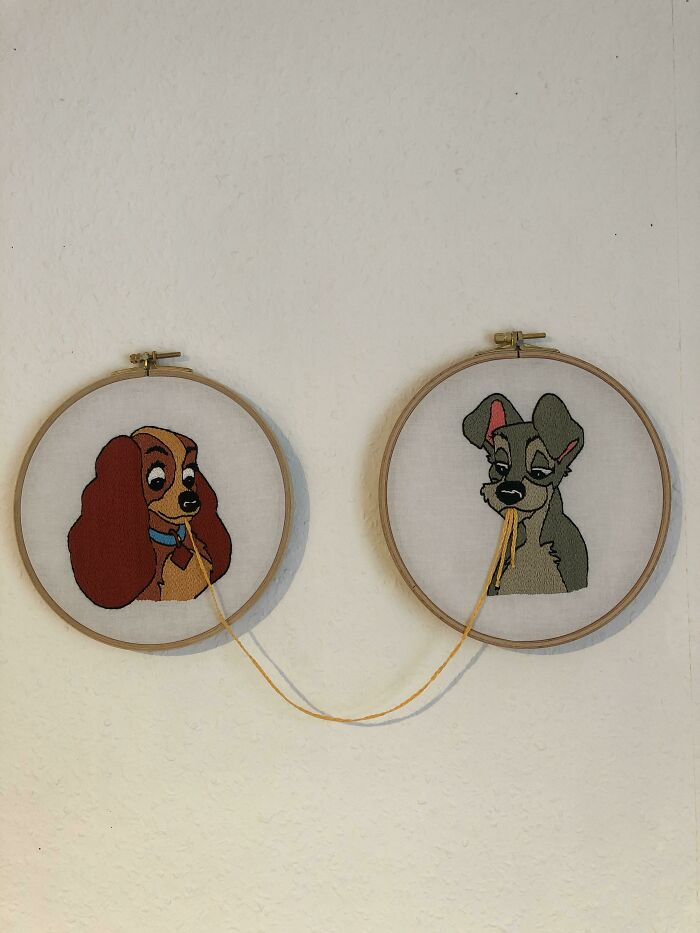 I Used The Holidays To Finish My Lady And The Tramp Design. I Hope You Like It!