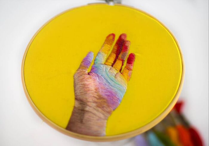 Putting The Hand In Hand Embroidery
