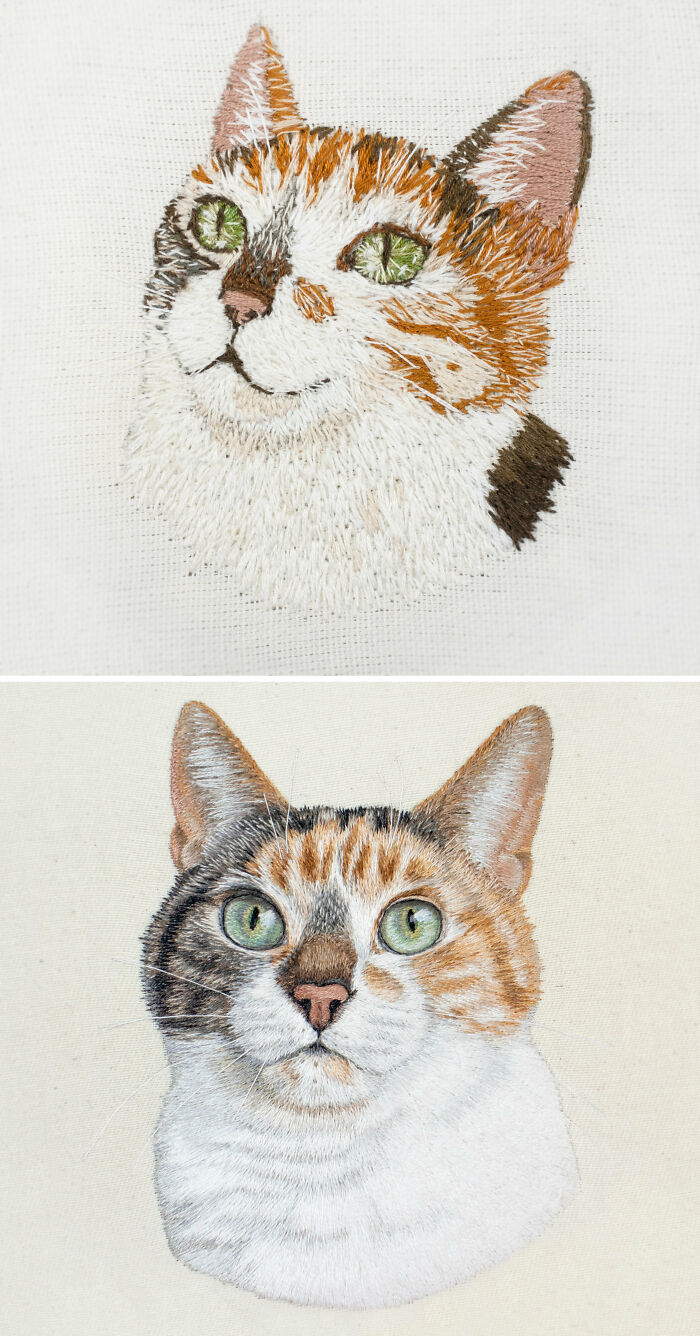 I'm So Proud To Share My Embroidery Progress From 2014 - 2020. No Talent Here, Just Hours And Hours Of Practice And Hard Work!