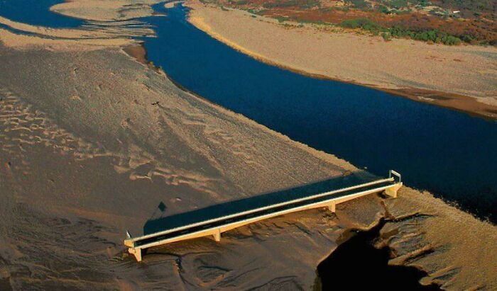 Hurricane Mitch Rendered The Choluteca Bridge (Honduras) Useless After It Changed The Course Of The River It Was Built For