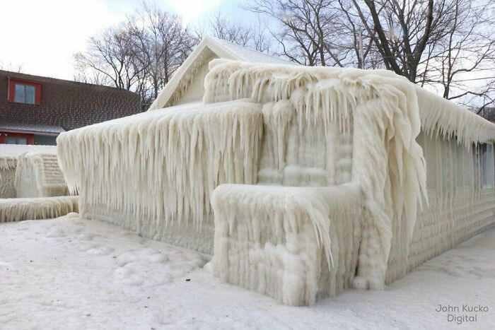 Lakefront Property During An Ice Storm