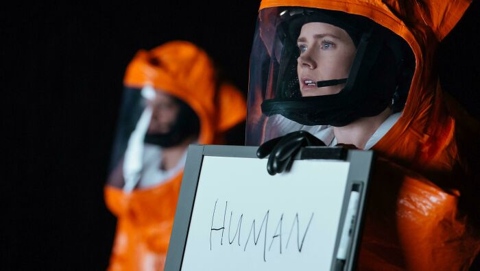 In Arrival (2016), Amy Adams Tries Her Best To Convince The Aliens She Is Not The Imposter