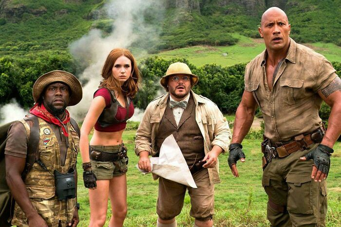 In Jumanji: Welcome To The Jungle (2017), Karen Gillian And Jack Black Face A Great Dilemma As They Find Themselves Stuck Between A Rock And A Hart Place