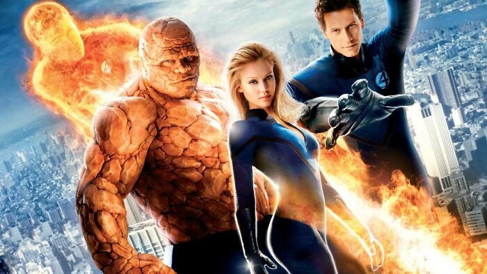 In Fantastic Four (2005) The Characters Represent The Four Elements: Fire, Earth, Invisibility, And Stretching