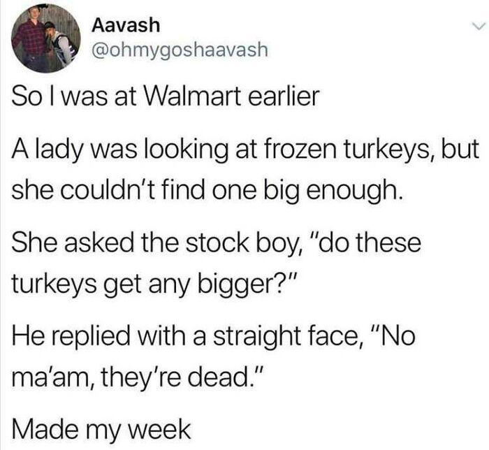 Dead Turkeys Don't Grow