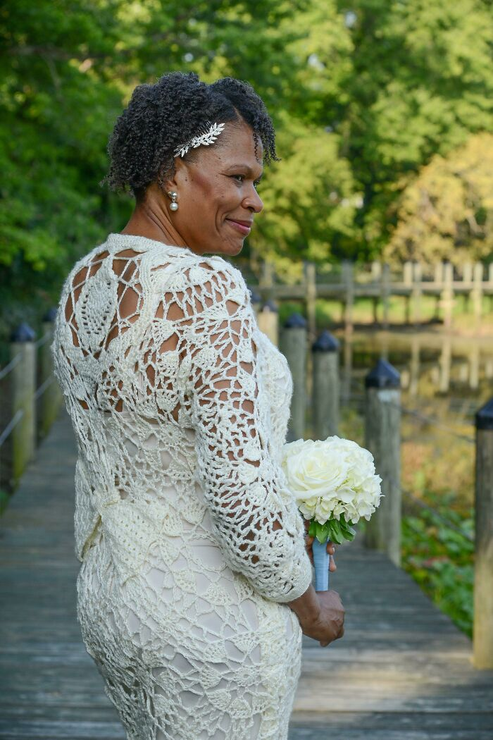 Crocheted My Wedding Dress