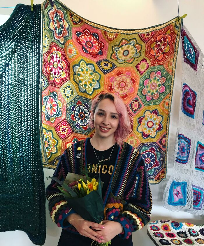 My Persian Tiles Blanket Won First Place In A Crochet Blanket Competition!