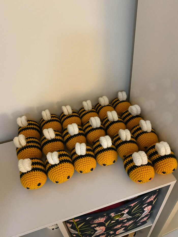 I Made 20 Bees For An Order - A Company That Makes Honey. I'd Be Okay If I Never Make Another Bee Again