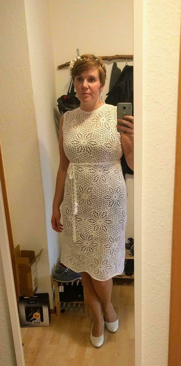 A Pic Of My Self Crocheted Wedding Dress