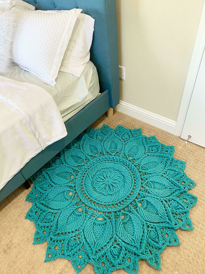 Finished My First Big Project! Ulita Doily Rug