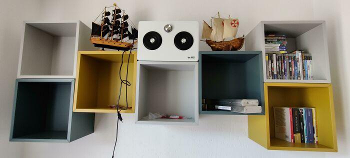 He encontrado mi encaje perfecto con mi altavoz y estas estanterías de IKEA