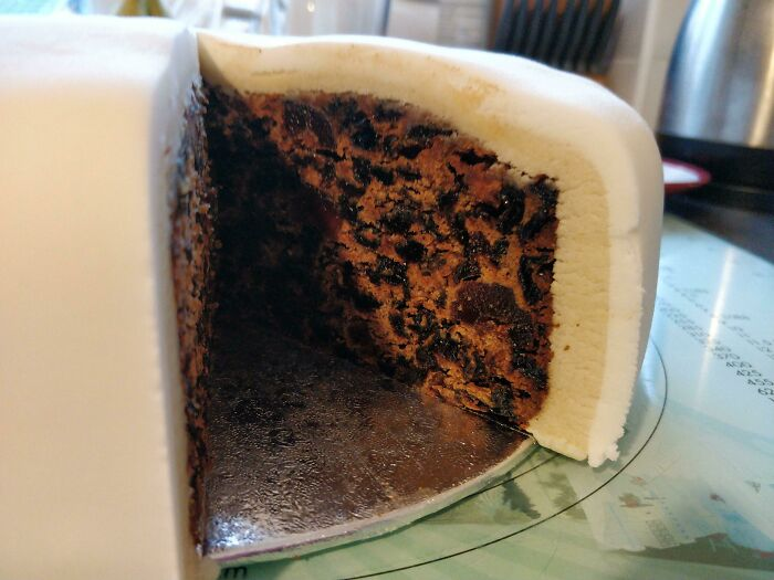 Promised My Partner An Extra Thick Layer Of Marzipan On The Christmas Cake