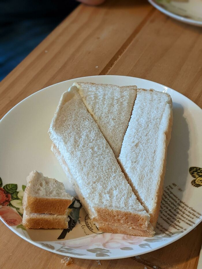 When You Don't Care How Your Sandwich Is Cut Up