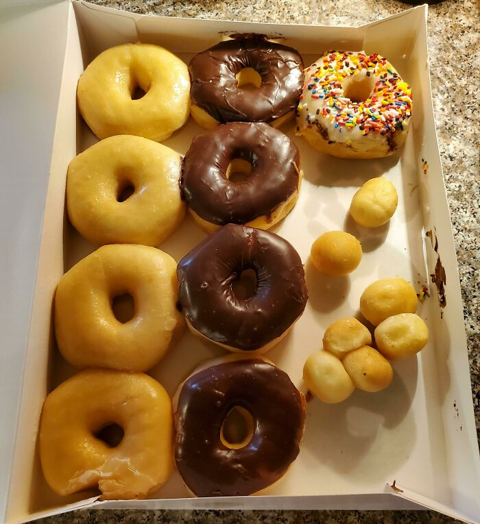 Ordered A Dozen Donut Holes, Was Given The Donut Holes And A Dozen Donuts. Ate As Much As We Could!