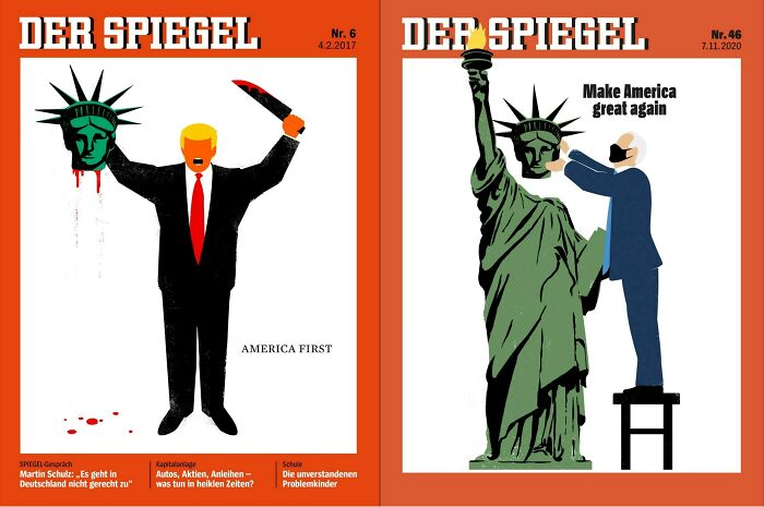 """""""Der Spiegel"""" Covers 2017 And 2020"""
