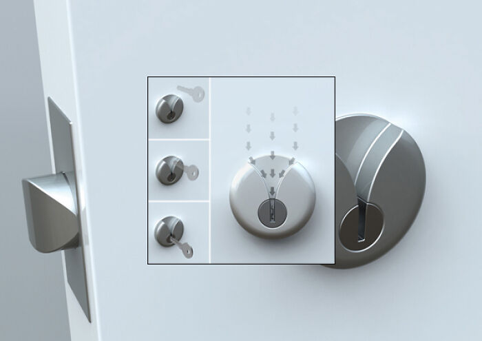 Door Lock Designed With Elderly (Or Intoxicated) People In Mind